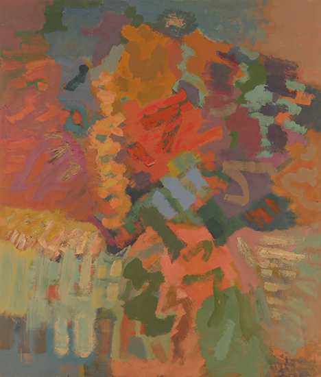 Compassion Autumn, 1960, Oil on linen, 84 x 72 in.