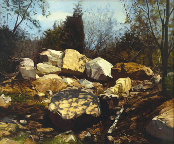 "Four Seasons - Spring  , 1975, Oil on linen, 66"" x 72"""
