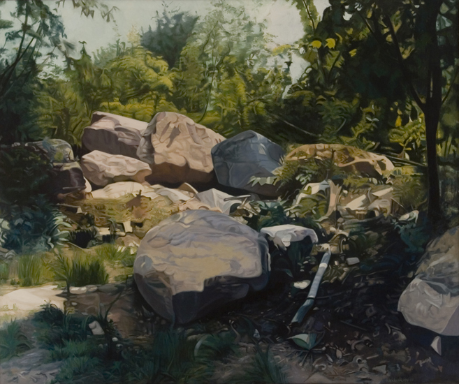 "Four Seasons - Summer ,  1974-76, Oil on linen, 66"" x 72"""