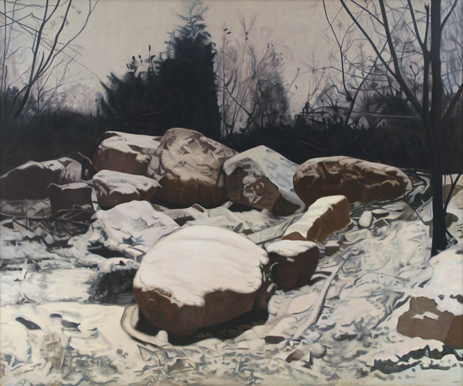"Four Seasons - Winter , 1975, Oil on linen, 60"" x 72"""