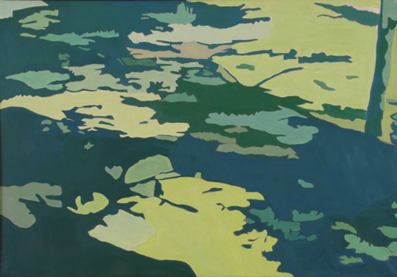 Shadows on the Grass   ,   1997,   Oil on linen, 26 x 36 in.