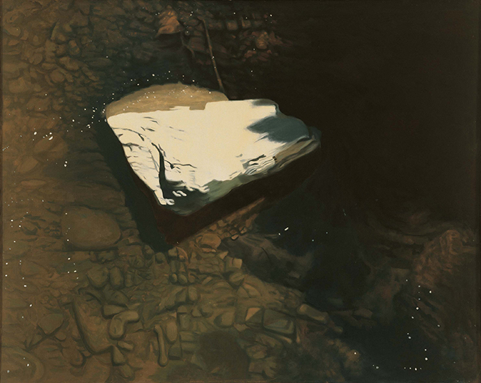 "Last Snow,   1978, Oil on linen, 40"" x 50"""