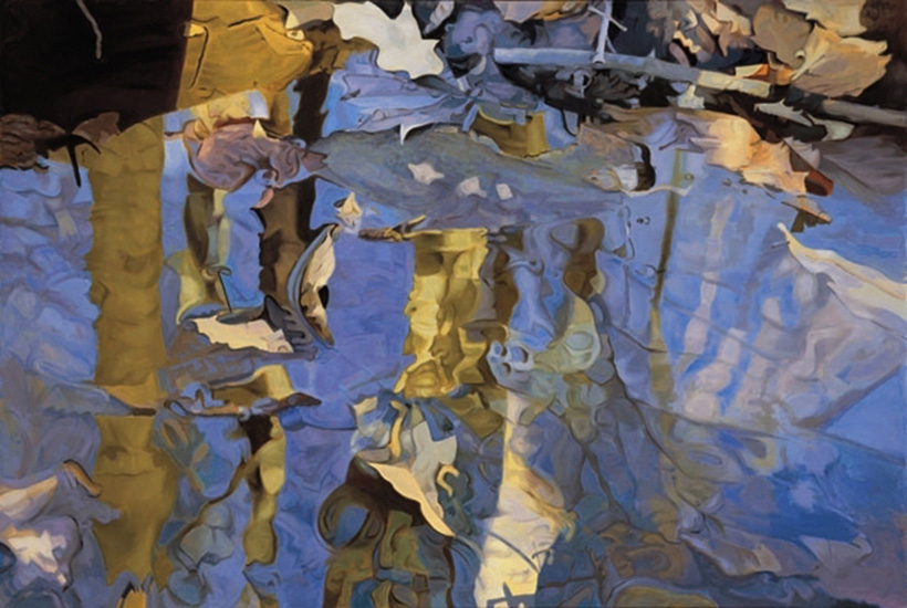 "Diadem,   1983, Oil on linen, 47"" x 70"""