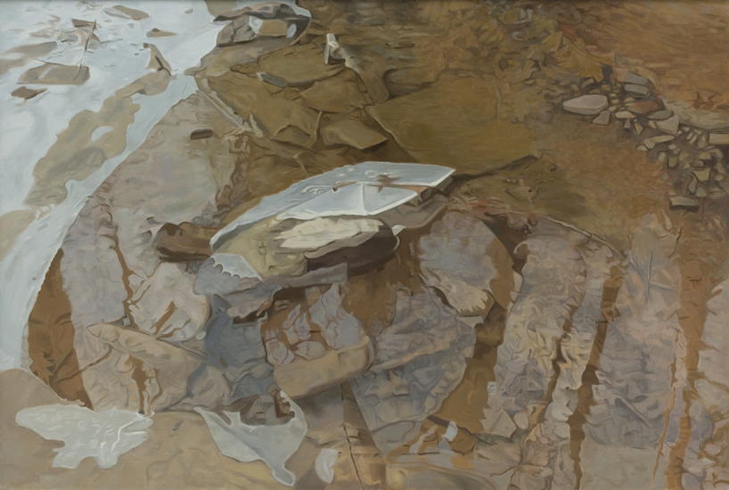 "Ice Rhapsody,   1984, Oil on linen, 47"" x 70"""