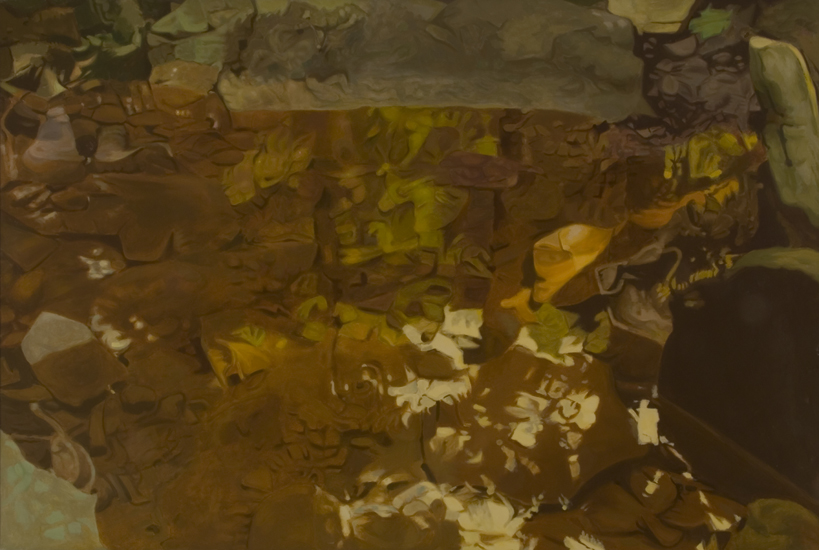 "Brown  , 1981, Oil on linen, 47"" x 70"""