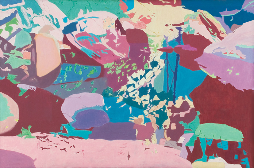 "Speckled  , 1987, Oil on linen, 48"" x 72"""