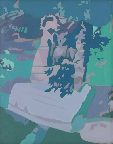 "Shadow on the Apple Tree  , 1990, Oil on linen, 20"" x 16"""