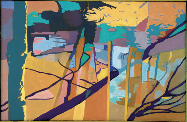 "Sunlight ,  1994, Oil on linen, 26"" x 40"""