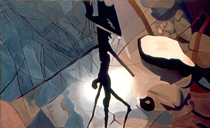 "Light and Dark  , 1997, Oil on linen, 24"" x 40"""