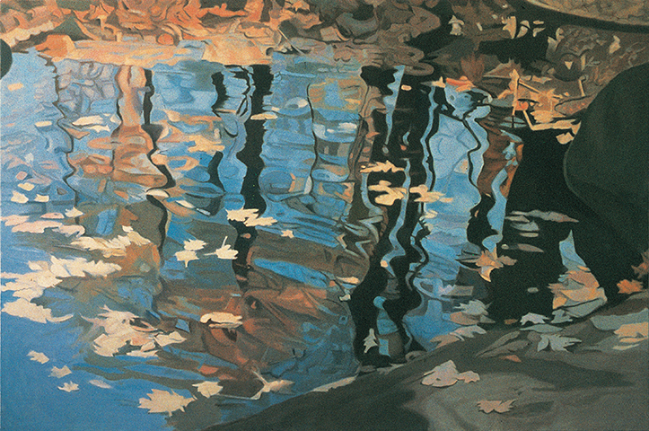 "Blue  , 1986, Oil on linen,40"" x 60"""