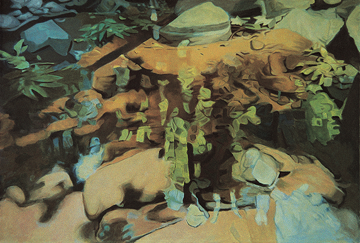 "Deep Stream  , 1982, Oil on linen, 34"" x 50"""
