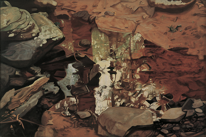 "Rusty Reflections  , 1978, Oil on linen, 40"" x 60"""