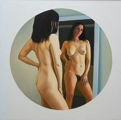 "Reflection  , 1970-72, Oil on linen, 30"" x 30"""