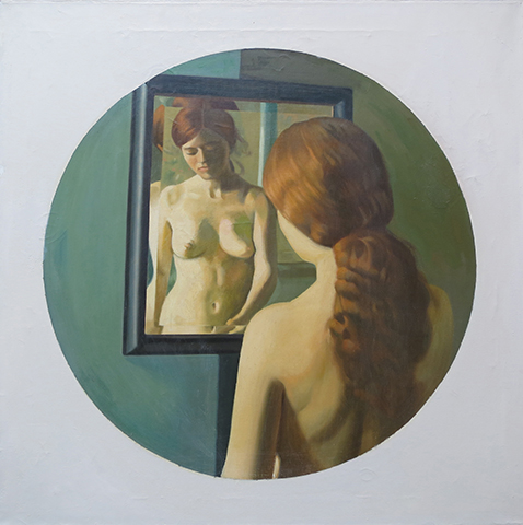 "Dian No.16,   1970-75, Oil on linen, 24"" x 24"""