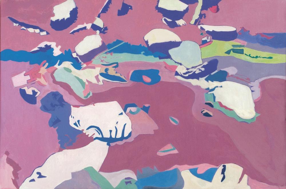 """Floating Roacks,  40"""" x 60"""", Oil on Linen, 1996"""