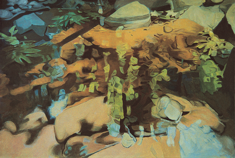 "Deep Stream, Oil on Linen, 34""x50"", 1982"