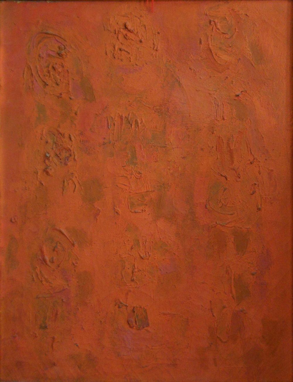 Orange Compassion  25x20, 1954