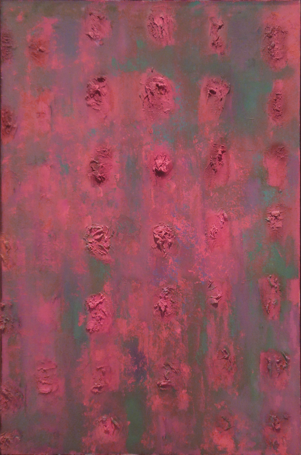 "Compassion Theme with Marble Dust,   44""x30"", 1956"