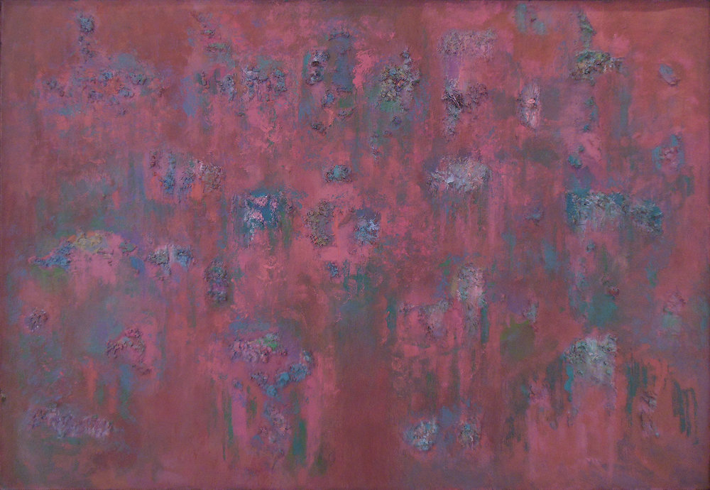 "Red and Rough I  42"" x 60"", 1955"