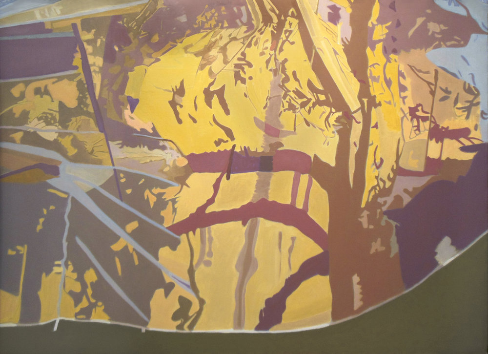 "In Yellow  Oil on Linen, 36""x50"", 1994"