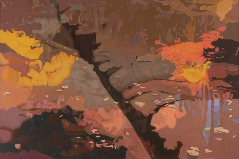 "Shadow I  Oil on Linen, 40"" x 60"",1994"
