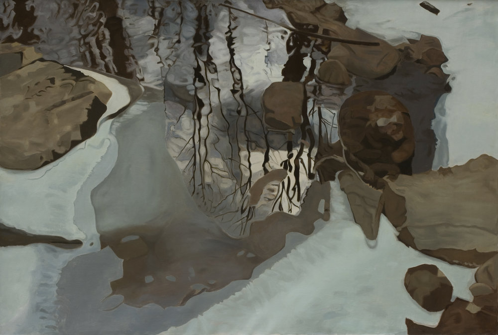 """Winter Reflection 47""""x70"""", Oil, 1981"""