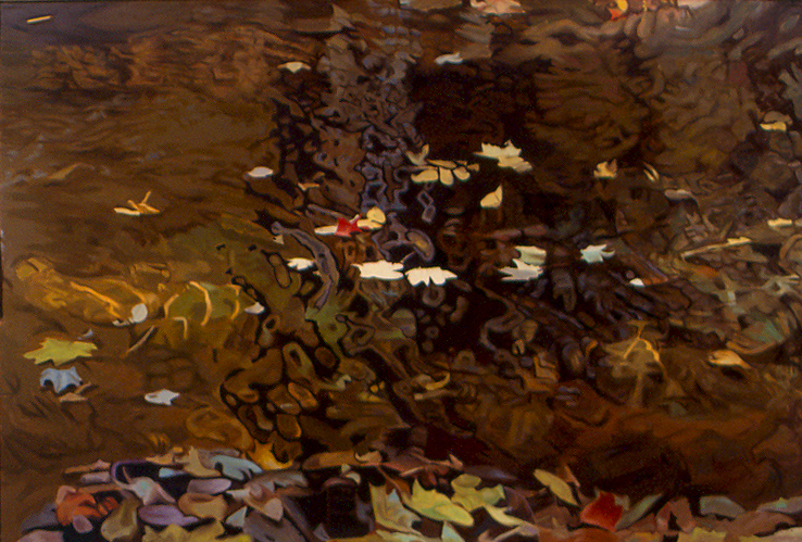 "Into the Eddy , Oil on Linen, 47"" x 70"", 1981"
