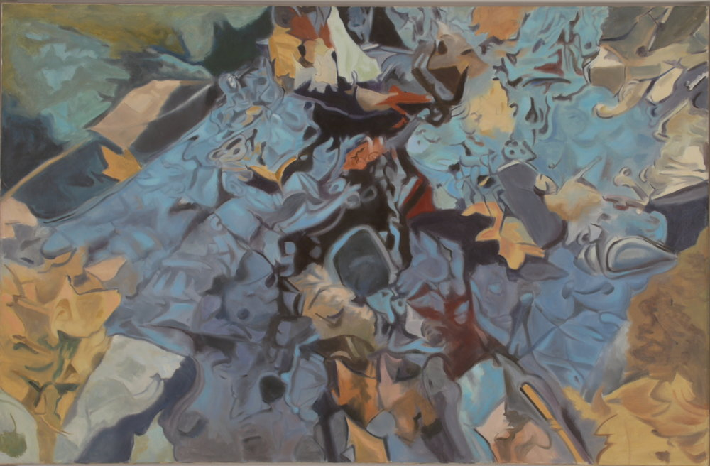 "The Blue Rock , Oil on Linen, 26"" x 40"", 1984"