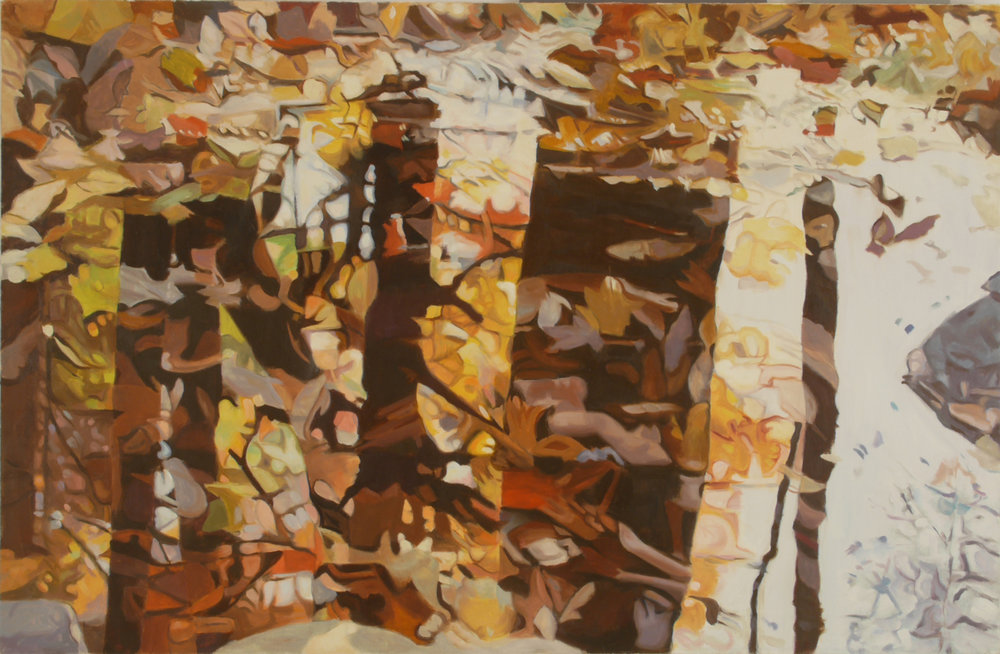 "Fall , Oil on Linen, 26"" x 40"", 1985"