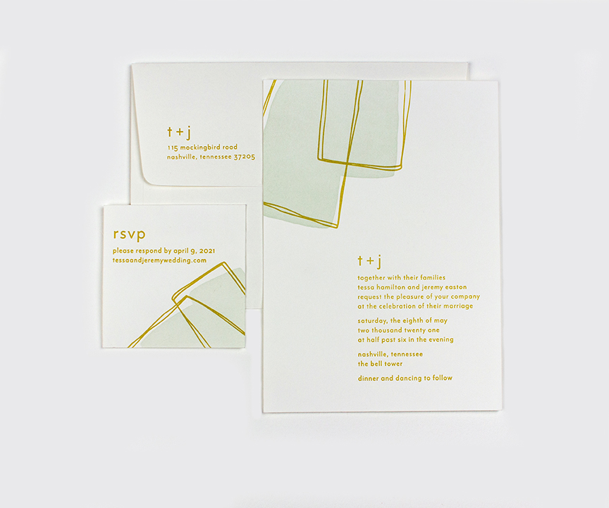 tessa invitation and response set