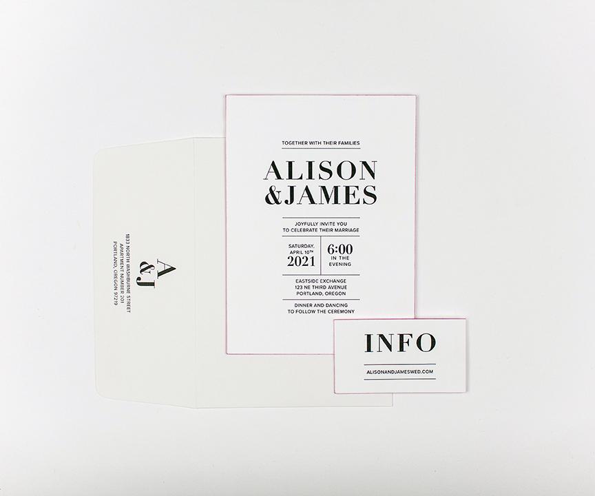 alison invitation and information set