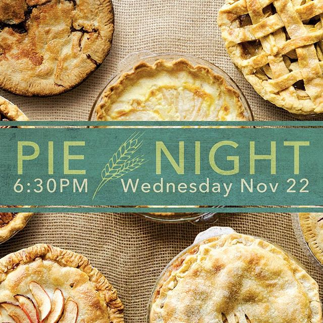 Come fill your piehole tomorrow evening, Wed Nov 22, 630pm at the Moniker Warehouse. You bring a pie (preferably homemade!). We'll provide the plates, utensils, pizza and cider. FREE! #pienight #thankfulvibes