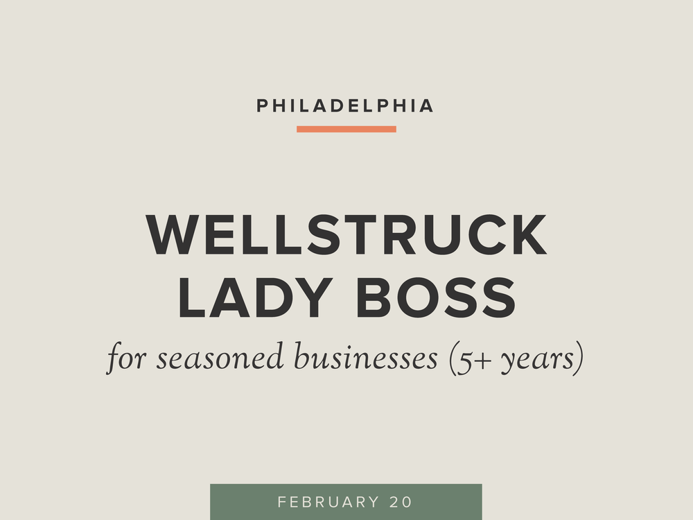 Wellstruck Lady Boss | For Seasoned Businesses (5+ Years)