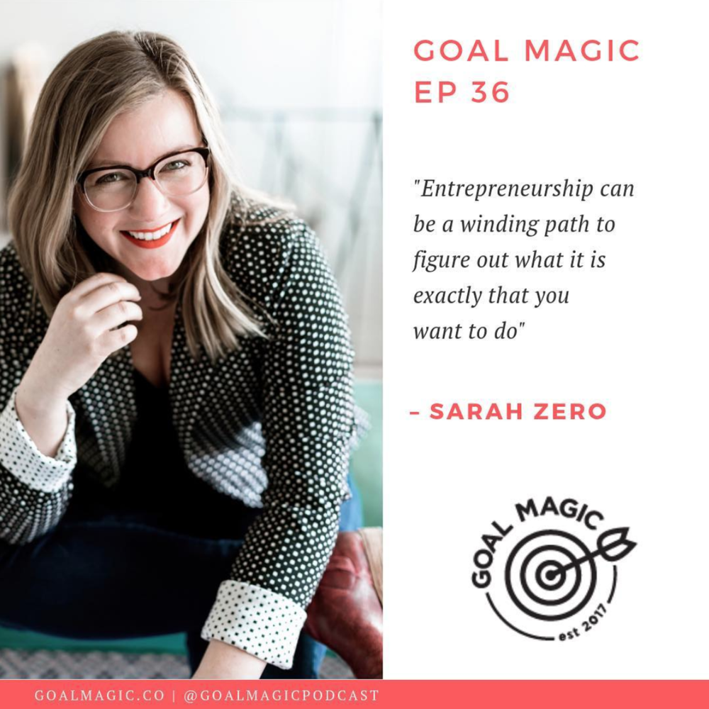 An interview with Sarah Zero, founder of Wellstruck Brand Strategy & Design, on the Goal Magic podcast.