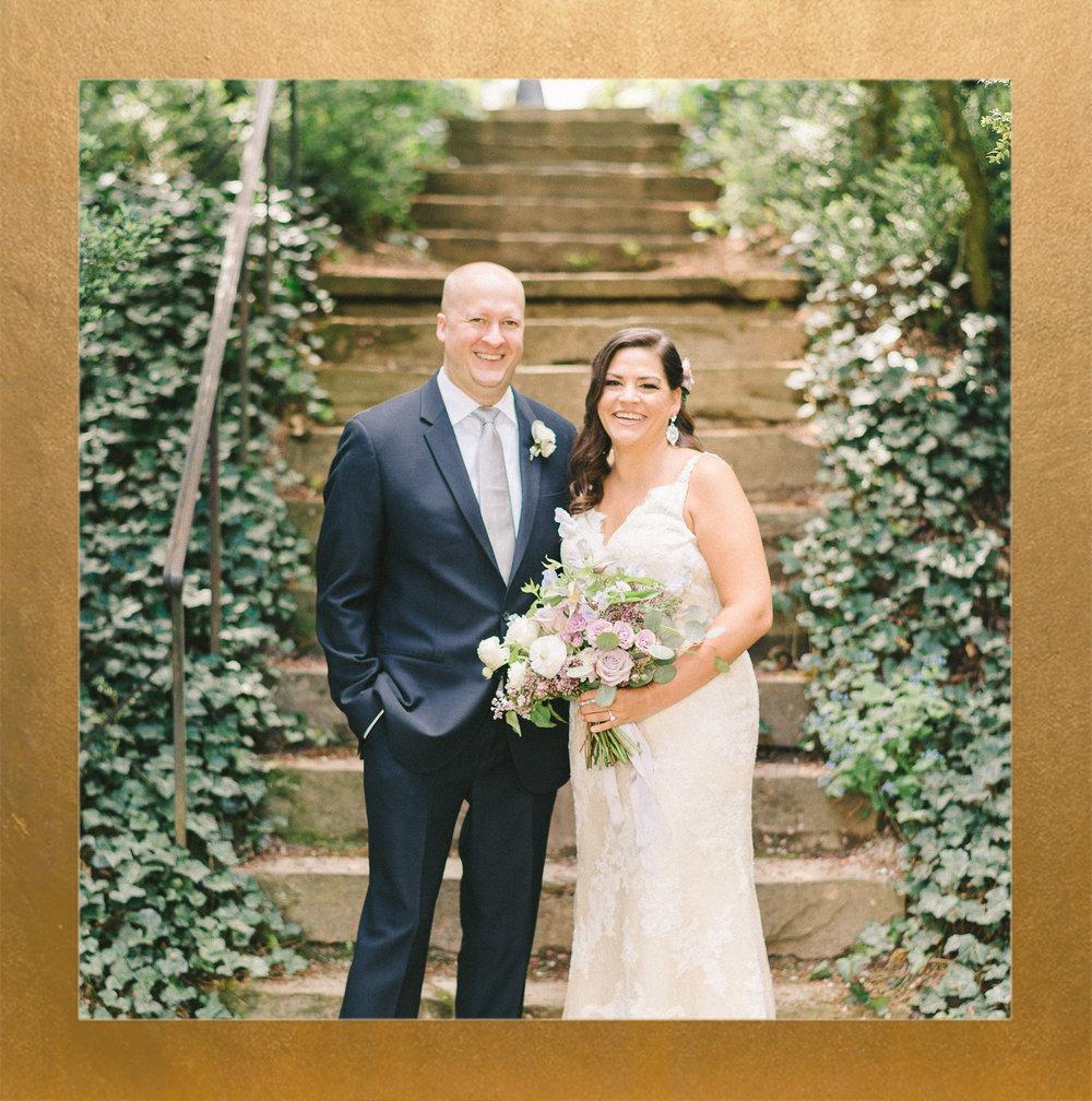 Lavender Garden Oatlands Historic Home Wedding
