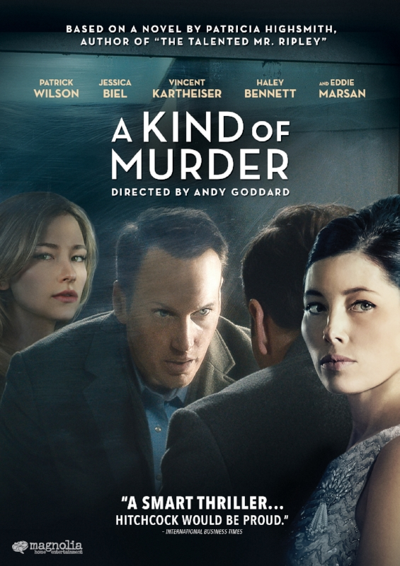 "Patrick Wilson and Jessica Biel star in this Hitchcockian noir based on a novel by Patricia Highsmith (The Talented Mr. Ripley, Carol). It's 1960 in Manhattan and Walter Stackhouse (Wilson) seems to have it all: status, money and a ""happy"" marriage. But he has become obsessed with Marty Kimmel (Eddie Marsan), a man suspected of killing his wife. This brutal murder unlocks Walter's darkest fantasies – his desire to be free from his own wife, the beautiful but damaged Clara (Biel). When she is found dead in suspicious circumstances the lines blur between innocence and intent. Who, in fact, is the real killer?  Cast: Patrick Wilson, Jessica Biel, Vincent Kartheiser, Haley Bennett and Eddie Marsan Directed by: Andy Goddard Written by: Susan Boyd (screenplay) and Patricia Highsmith (novel)"