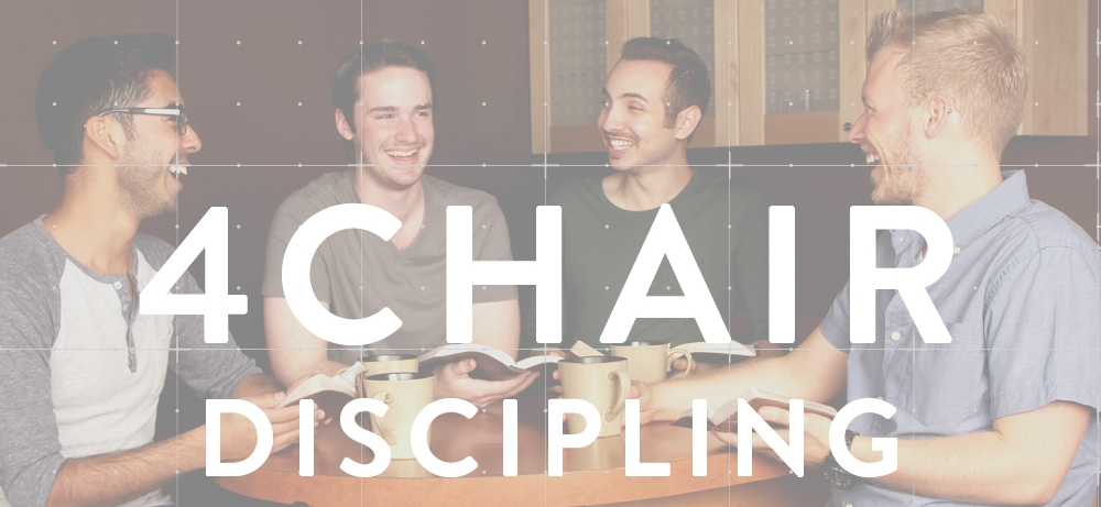 In 4 Chair Discipling, we give a clear and simple picture of how to follow in Jesus' footsteps and do the same thing.