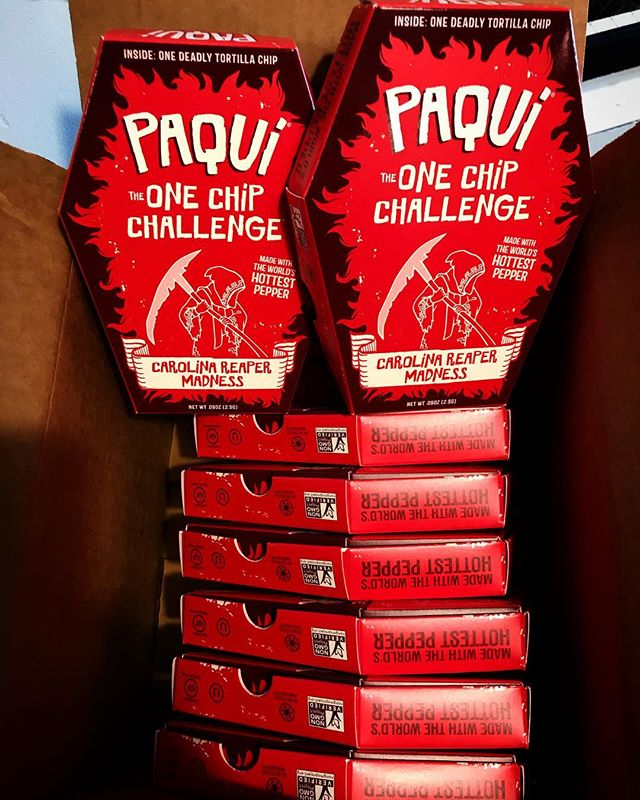 BACK. IN. STOCK. We have a very limited supply of the Worlds. Hottest. Chip. Are you up to the challenge????