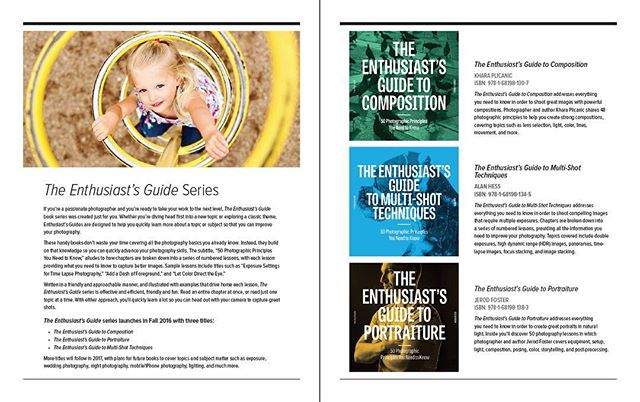 The first three Enthusiast's Guides titles are set to launch this fall! They'll cover composition, portraiture, and multi-shot techniques!