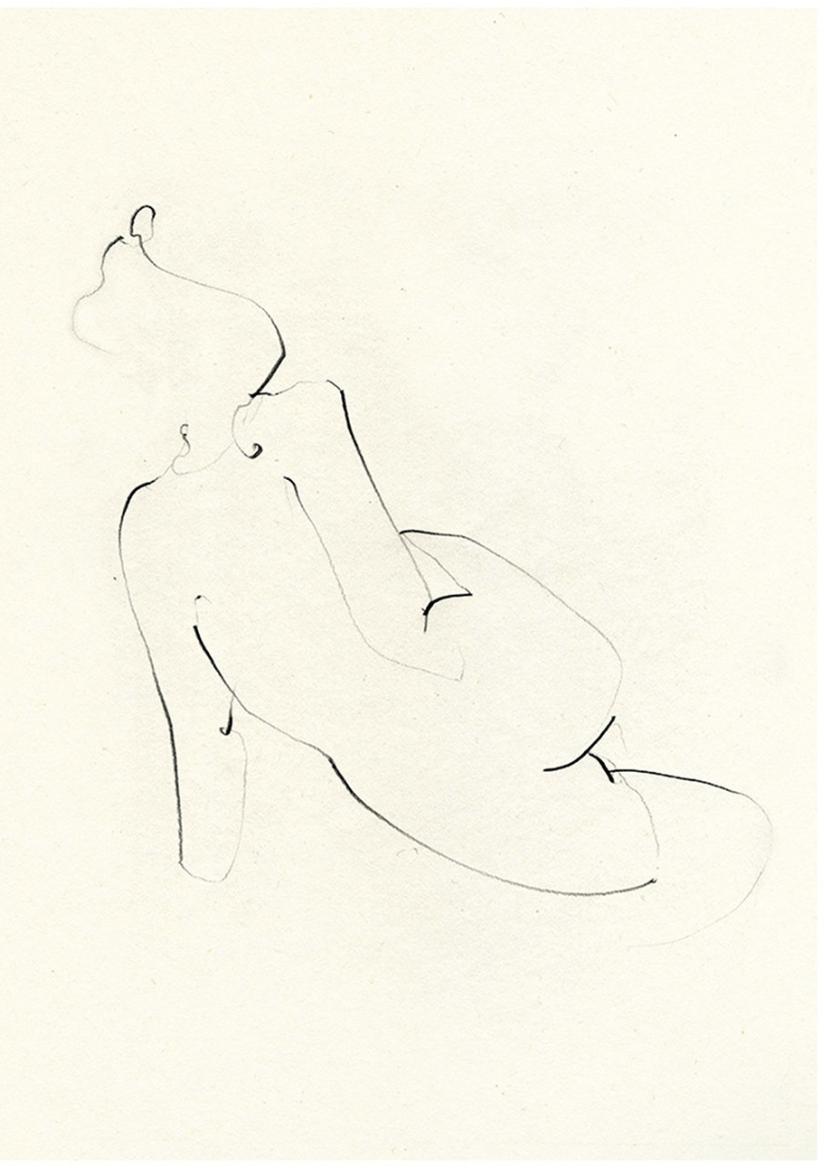 Nude One print by Ekaterina Koroleva, £45 - Workshop
