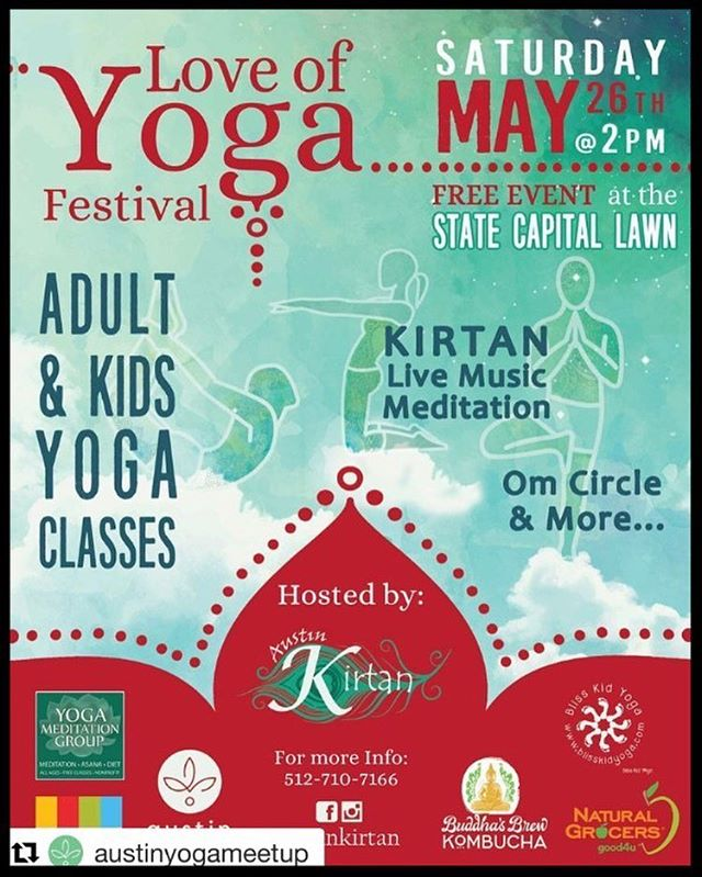 SAVE THE DATE! ⁣ ⁣ Next Saturday May 26, in Austin TX, at the State Capital lawn, something wonderful is coming and I am honored to be part of it! ⁣⁣ ⁣⁣ Peace ⁣⁣ + ⁣⁣ Love ⁣⁣ + ⁣⁣ Community ⁣⁣ = ⁣⁣ Love of Yoga Festival! ⁣⁣ ⁣⁣ I'm joining @blisskidyoga to teach a Family Yoga class and share all the good vibes with the lovely Austin Yoga community and friends! ⁣⁣ ⁣⁣ Hosted by @austin_kirtan, and supported by many amazing local friends, this is a FREE event and EVERYONE is welcome! ⁣⁣ ⁣⁣ Let's get together, share all the good vibes, and spread our light with the world! Who's joining?⁣⁣ ⁣⁣ #YogaWithErinda #LoveOfYogaFestival #BlissKidYoga #AustinYogaMeetup #AustinKirtan #YogaEvent #PracticeYoga #YogaEveryDay #YogaEverywhere #EverybodyYoga #YogaLove #AustinYoga #AustinTXYoga #ATXYoga #ATXevent #ATXYoga #AustinTX #ATX #Yoga #Meditation #LiveMusic #Kirtan #Community #Peace #Namaste