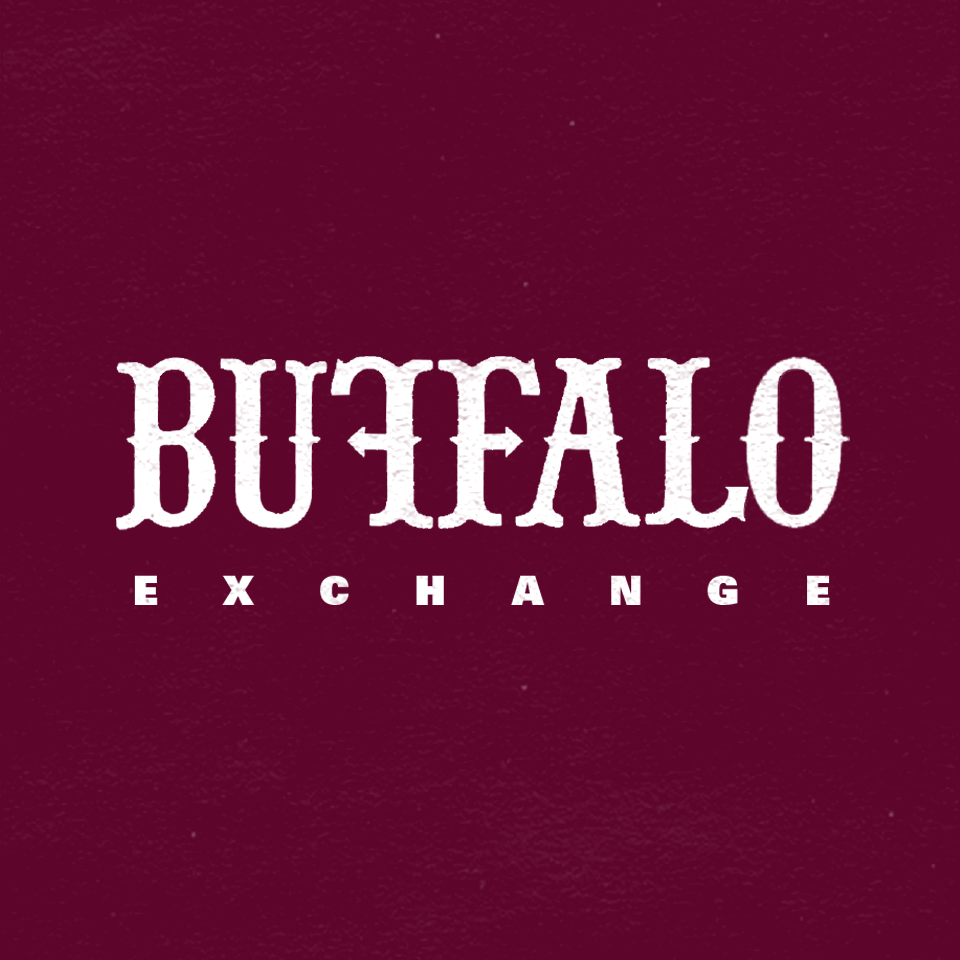 Quirky, unique, with a Western twang - Buffalo Exchange is a family-run fashion retailer that buys and resells used clothing. Each store is created with a unique, quirky, and slightly Western twang. The logo redesign was inspired by these core characteristics while playing with hand-crafted letters.