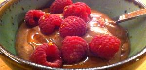 cashew cream with berries