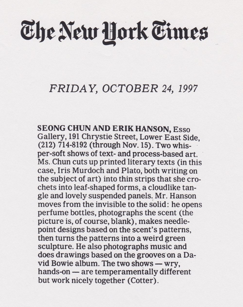 1997 10_24 NYTimes Cotter.jpeg