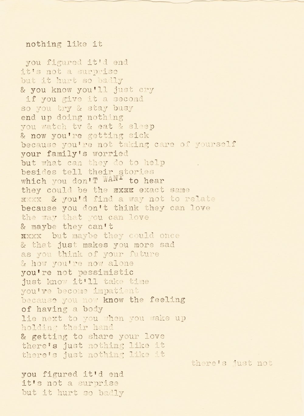 nothing like it lyrics typewriter.jpg