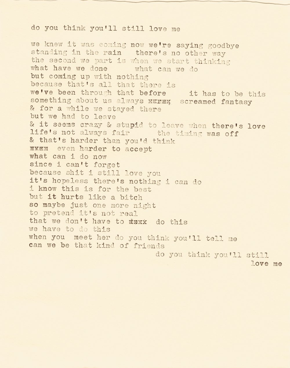 do you think you'll still love me lyrics typewriter.jpg