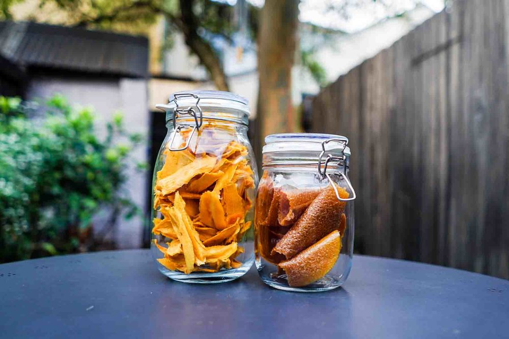 Store the dried mango and mango leather in air-tight containers.
