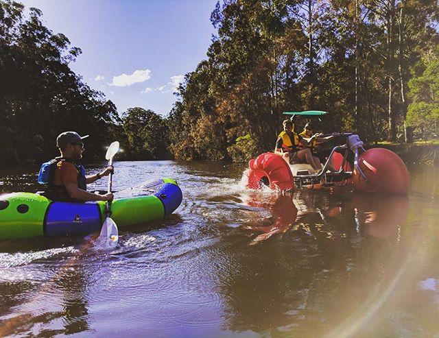 Alpacka Raft VS Aqua Trike 💦 . . . #alpackaraft #aquatrike #lanecovenationalpark #alpackarafts #visitnsw #nswnationalparks #packrafting #packraft #packraftaustralia #seeaustralia #nationalpark #optoutside #boughtaboat #lanecoveriver #thisispackrafting #knowyourraft