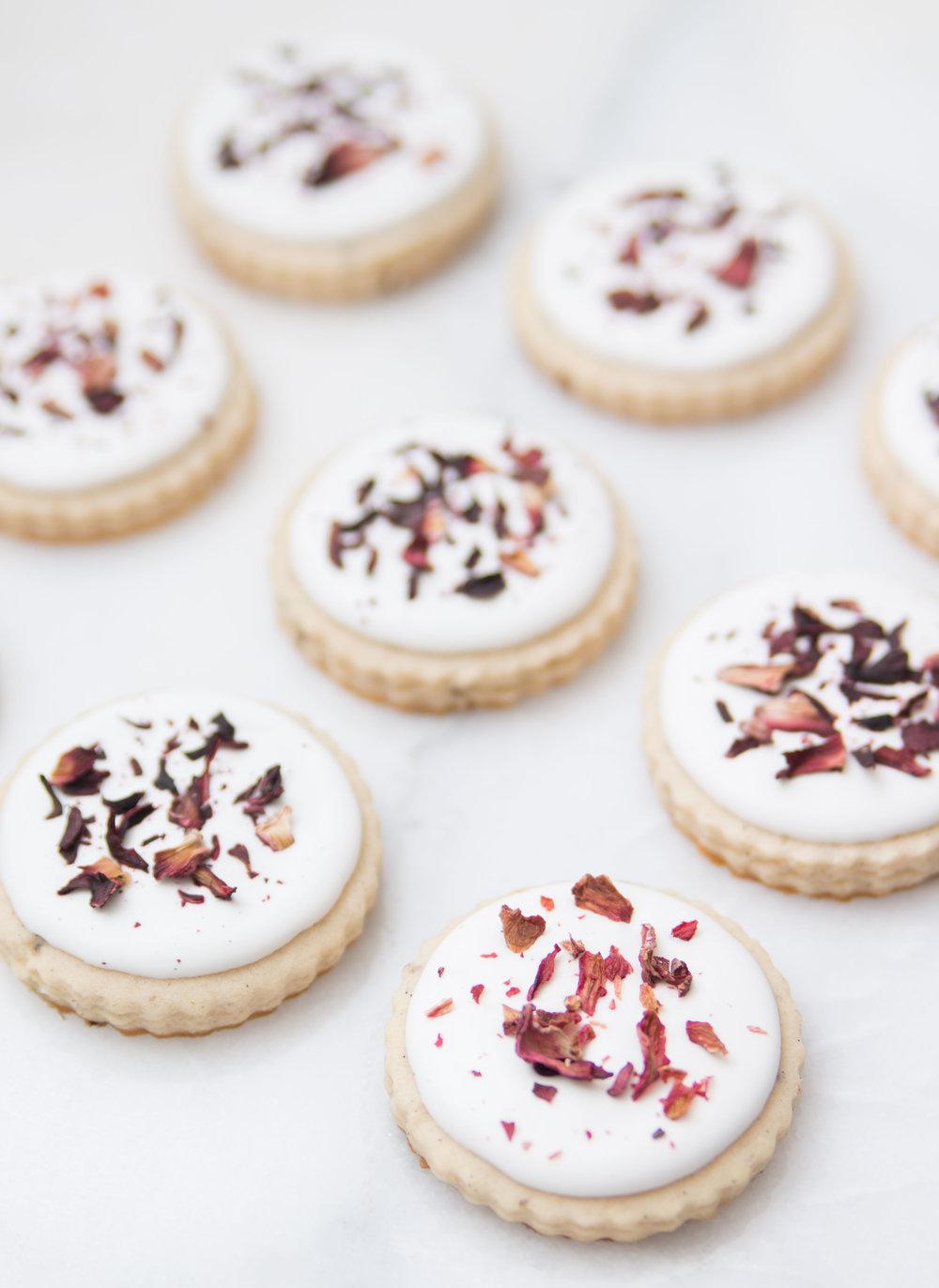 Lavender Hibiscus Rose Sugar Cookies — Sweet Home Sweet
