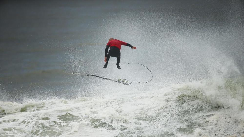 Surfer Justen Allport pictured at Cape Solander surf break called Cape Fear. Picture Rohan Kelly